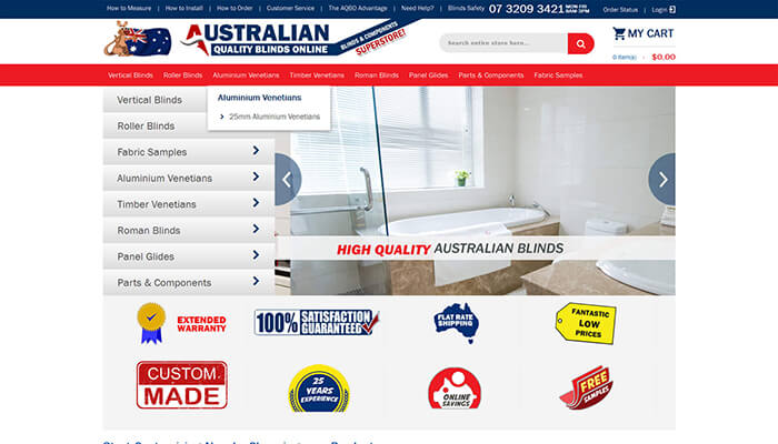 Blinds & Components superstore - online ordering store is specifically designed to make ordering bli