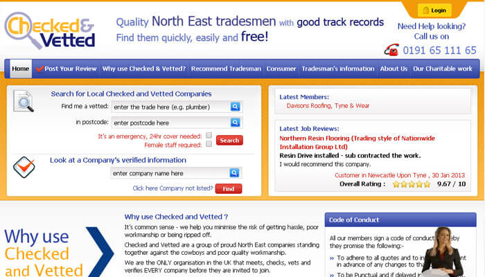 Checked and Vetted Tradesmen
