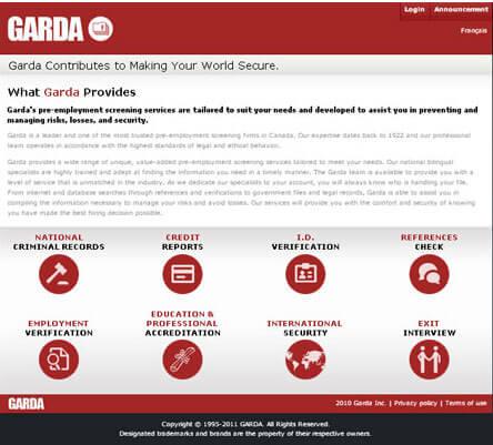 Garda Online Services