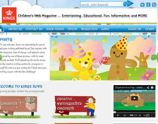 Kingsnews Childrens Web Magazine
