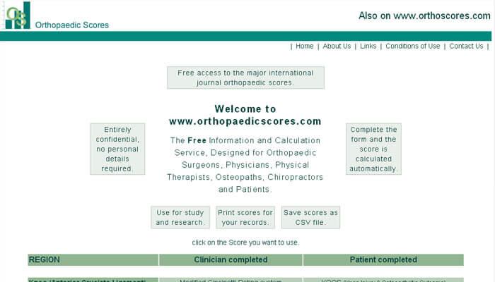 Orthopaedic Scores