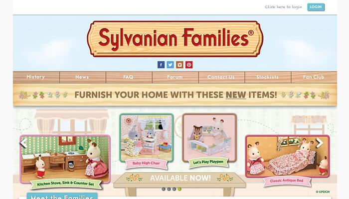Sylvanian website