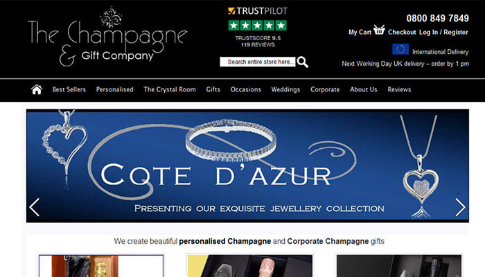 The champagne and gift company