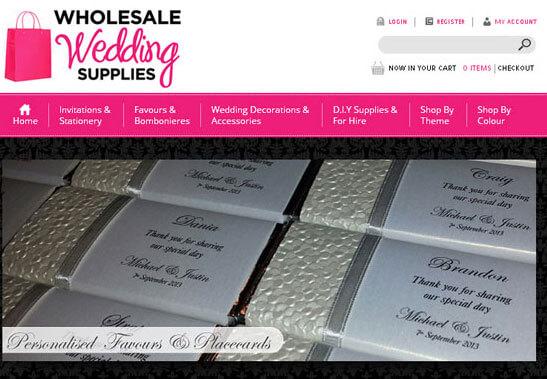 Wholesale Wedding Supplies